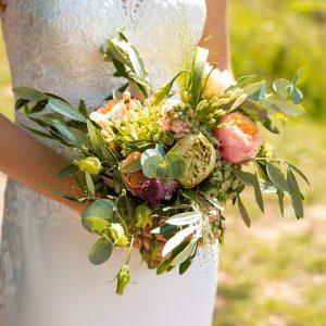 bruidsboeket detailfoto